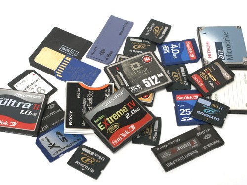 Memory cards data recovery