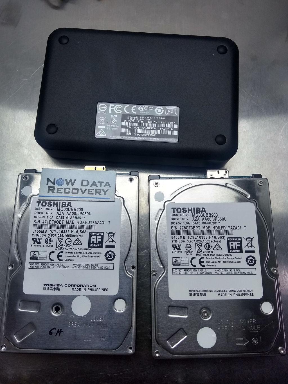 Toshiba Data Recovery Services - 2 TB Portable Hard Drive
