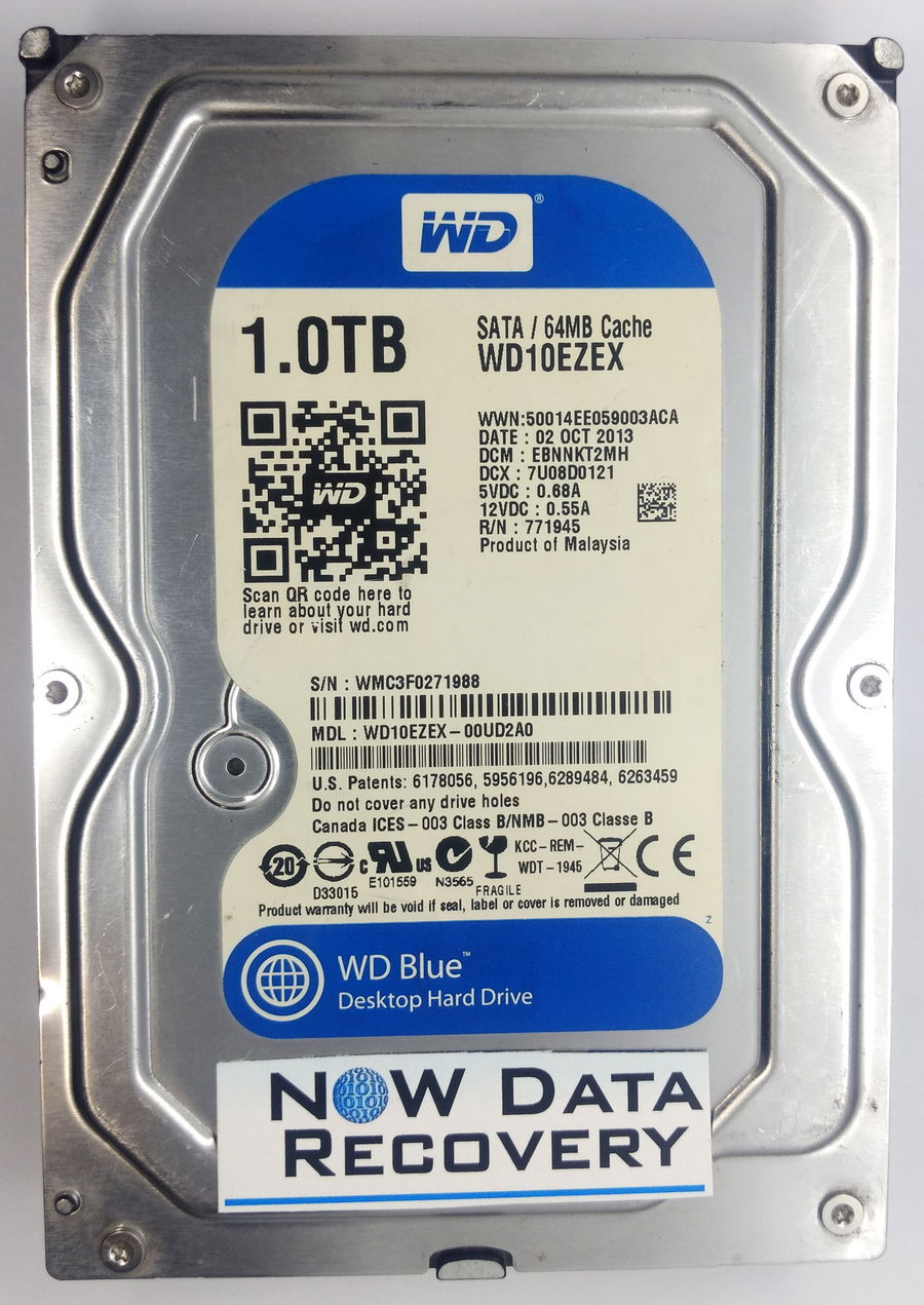 WD-1TB-WD10EZEX HDD Data Recovery